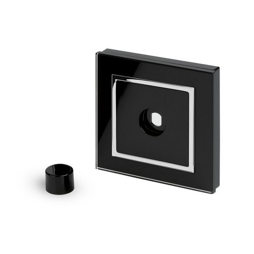 RetroTouch 1 Gang LED Dimmer Plate Black Glass CT 02051
